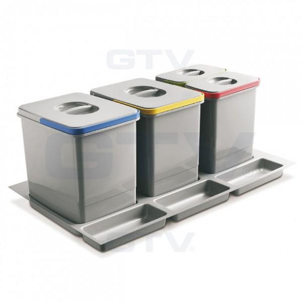 Koš za odpadke GTV Multino za v predal 80 cm