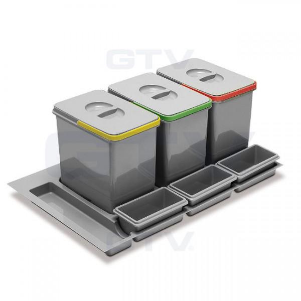 Koš za odpadke GTV Multino za v predal 90 cm