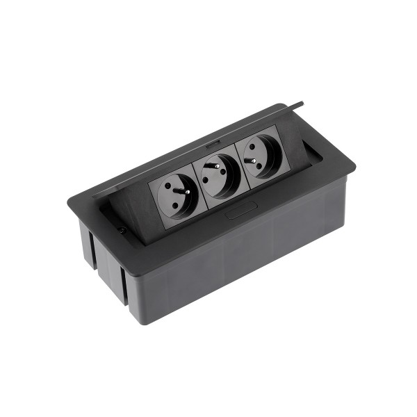 GTV potopna vtičnica SOFT 2x schuko 2x USB