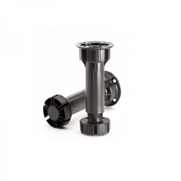 PVC nogica črna, h=100 mm
